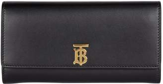 Burberry Leather Monogram Continental Wallet