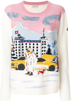 Moncler ski embroidered sweater