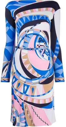 Emilio Pucci Wally print belted dress