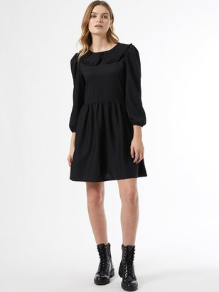 Dorothy Perkins Fochette CollaredFit And Flare Dress - Black