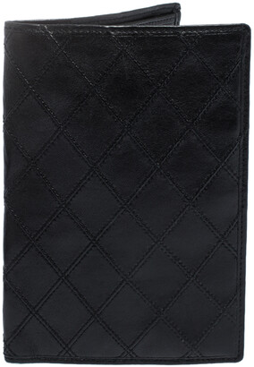 Chanel Black Quilted Leather Vintage Bifold Wallet