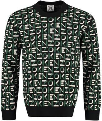 Kenzo All Over Logo Crew-neck Sweater