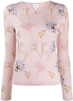 Giambattista Valli Floral-Embroidered Jumper
