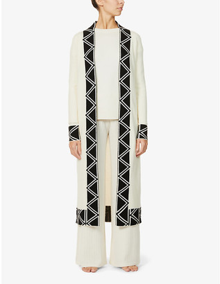Madeleine Thompson 3 Amigos geometric-trim wool and cashmere-blend cardigan