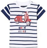 Mayoral Navy Striped Moped Print Tee