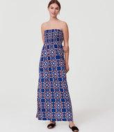 LOFT Beach Kaleidoscope Strapless Maxi Dress