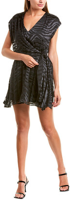 Alice + Olivia Essie Silk-Blend Mini Dress