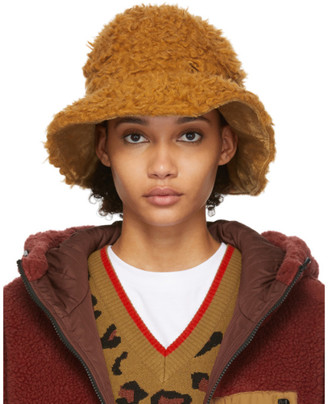Sjyp Reversible Brown Wool Hairy Hat