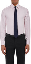 Barneys New York MEN'S TWILL BUTTON-FRONT SHIRT-PINK SIZE 16 R