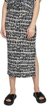Badgley Mischka Carla Printed Midi Skirt
