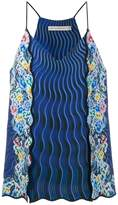 Mary Katrantzou Rainbow Cloud printed cami top