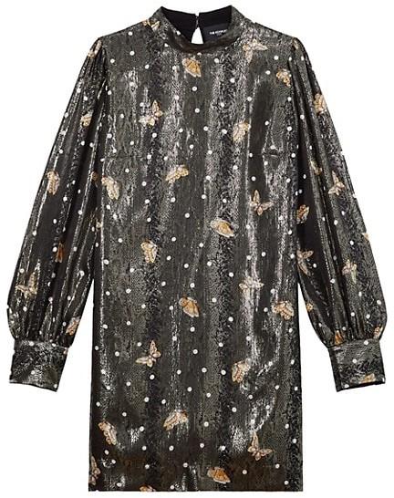 The Kooples Robe Highneck Butterfly Dress
