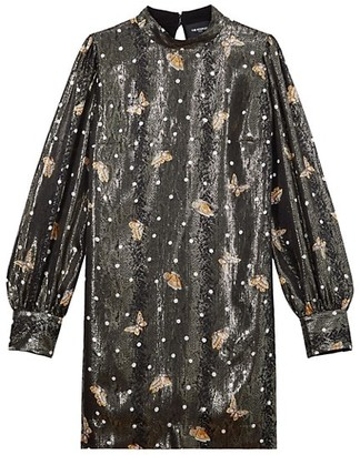 The Kooples Robe Highneck Butterfly Dress