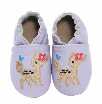 Koshine Cartoon Baby Moccasin Soft Leather Toddler First Walker Infant Shoes 0-24 Months (6/7 UK Child