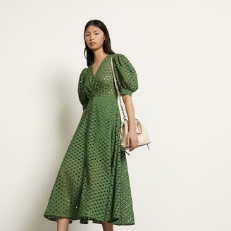 Sandro Long broderie anglaise dress