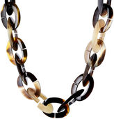 Nest Two-Tone Horn Link Necklace