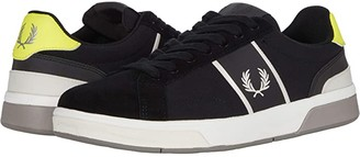 Fred Perry B200 Ripstop/Suede (Black/Snow White) Men's Shoes