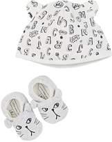 Little Marc LITTLE MARC INFANTS' HAT & SLIPPER GIFT SET