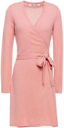 Diane von Furstenberg Wool And Cashmere-blend Mini Wrap Dress