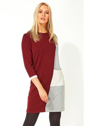 M&Co Roman Originals colour block jumper dress