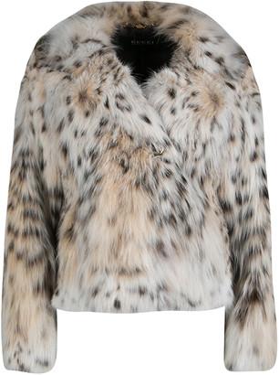 Gucci Beige Lynx Cat Fur Jacket S