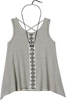Knitworks Girls 7-16 Striped Tank Top & Owl Necklace