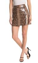 Blank NYC Blanknyc Denim Python Print Faux Leather Mini Skirt