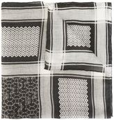 Givenchy contrast print scarf - men - Modal/Cashmere/Silk - One Size