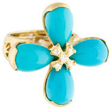 Elizabeth Showers 18K Turquoise & Diamond Ring