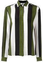 MSGM concealed fastening striped shirt - women - Silk - 44