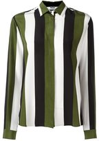 MSGM concealed fastening striped shirt