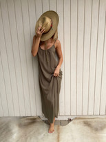 Tysa Long Perfect Dress In Olive 5662801093