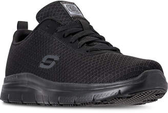 Skechers Men Work Relaxed Fit: Flex Advantage - Bendon Sr Slip Resistant Athletic Sneakers from Finish Line