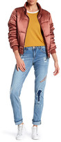 Democracy Feather Embroidered Pan Jean