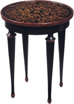 Sterling 6002387 Maderia Traditional Asian Hardwood Hand Painted Accent Table