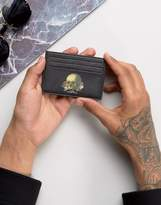 Asos Leather Card Holder With Skull Print