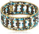 Marc Labat Gypsy Chic Cuff Bracelet Metal 15EB37 18 cm