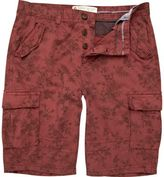 River Island Red Floral Cargo Bermuda Shorts