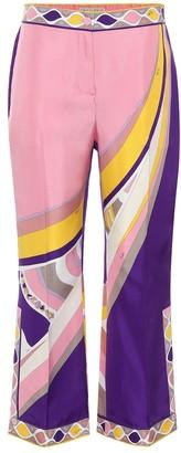 Emilio Pucci Printed high-rise silk-satin pants