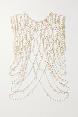 Rosantica Chimera Gold-tone Pearl Body Chain - one size