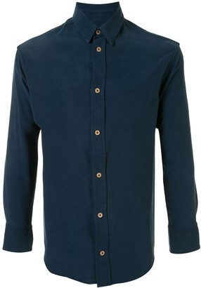 The Elder Statesman Long-Sleeved Silk Shirt