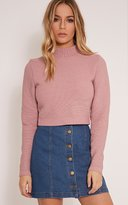PrettyLittleThing Zuly Black Cropped Knitted Jumper