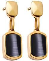 Tamaris Women's Earrings Stainless Steel Cat Becky A03440060 Black