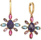 Kate Spade drop Gold-Tone Multi-Stone Drop Earrings