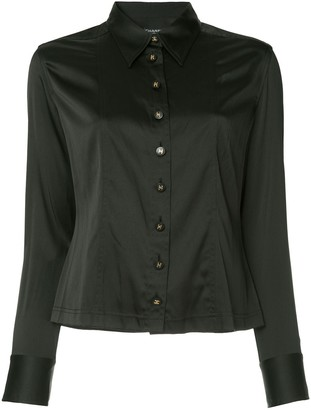 Chanel Pre Owned CC button shirt