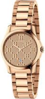 Gucci 27mm Unisex G-Timeless Bracelet Watch, Rose Golden