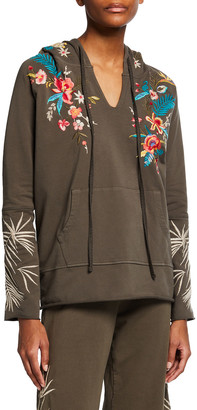 Johnny Was Plus Size Nohea French Terry Raw-Edge Hoodie