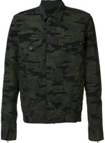 En Noir camouflage denim jacket
