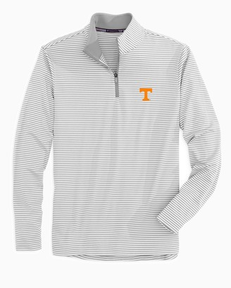Southern Tide Tennessee Vols Striped Quarter Zip Pullover