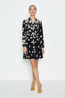 Coast Printed Long Sleeve Short Shirt Dress
